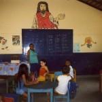 La lezione in aluta aperta (I° anno asilo)