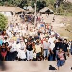 I pellegrini al Santuario di giorno
