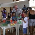Merenda con i bambini delle adozioni a distanza